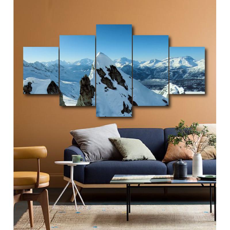 Wall Frames 5 Pieces Set Canvas - Digitally Printed Wall Canvas  post-182