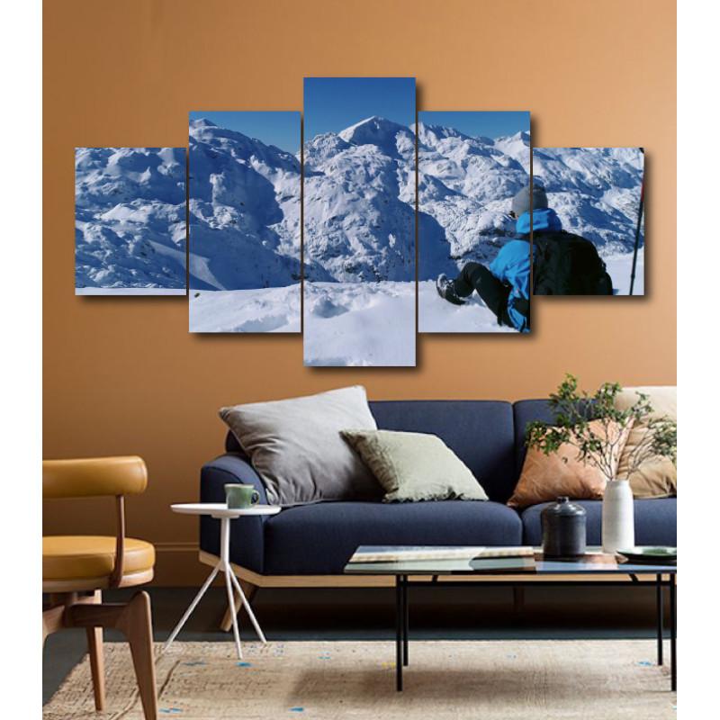 Wall Frames 5 Pieces Set Canvas - Digitally Printed Wall Canvas  post-185