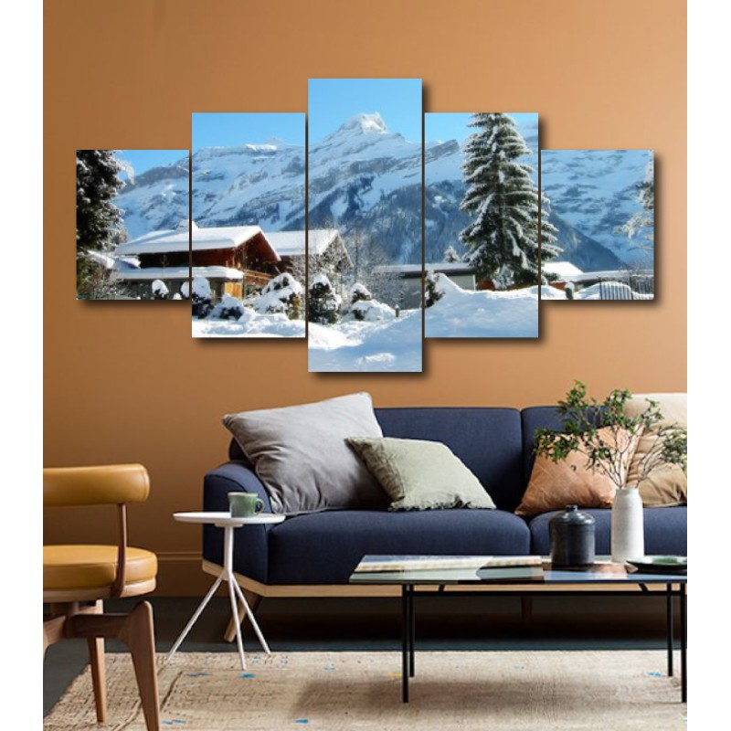 Wall Frames 5 Pieces Set Canvas - Digitally Printed Wall Canvas  post-186