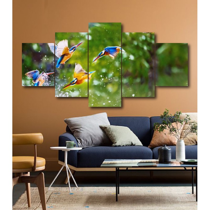 Wall Frames 5 Pieces Set Canvas - Digitally Printed Wall Canvas  post-188