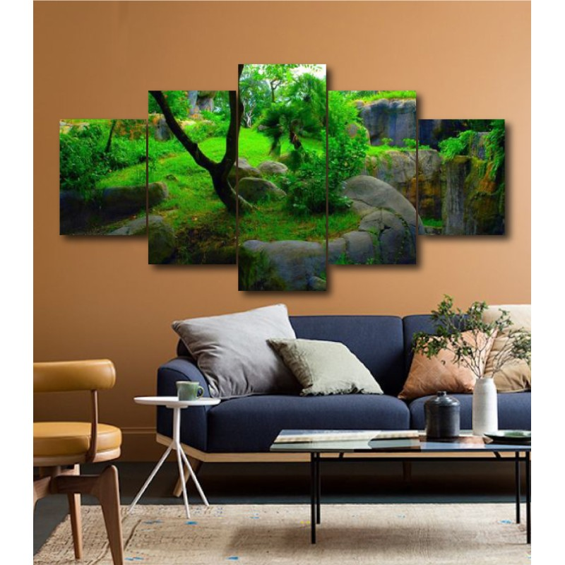 Wall Frames 5 Pieces Set Canvas - Digitally Printed Wall Canvas  post-192