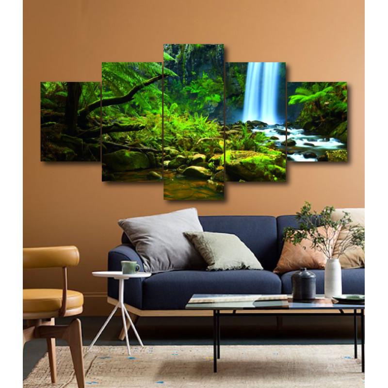 Wall Frames 5 Pieces Set Canvas - Digitally Printed Wall Canvas  post-193