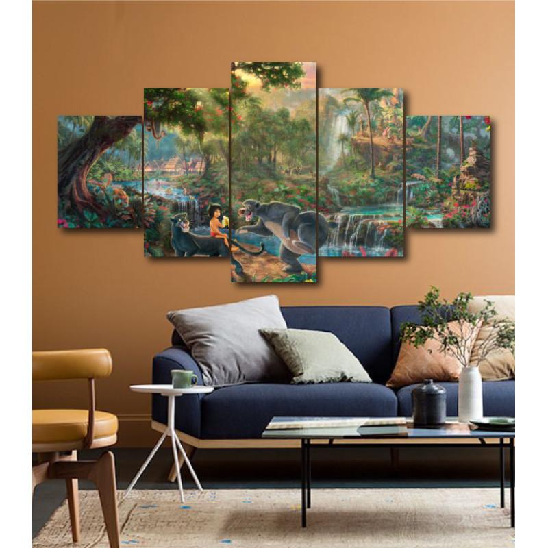 Wall Frames 5 Pieces Set Canvas - Digitally Printed Wall Canvas  post-195