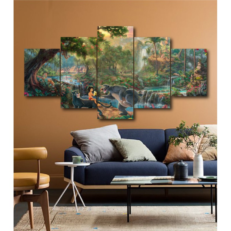 Wall Frames 5 Pieces Set Canvas - Digitally Printed Wall Canvas  post-196