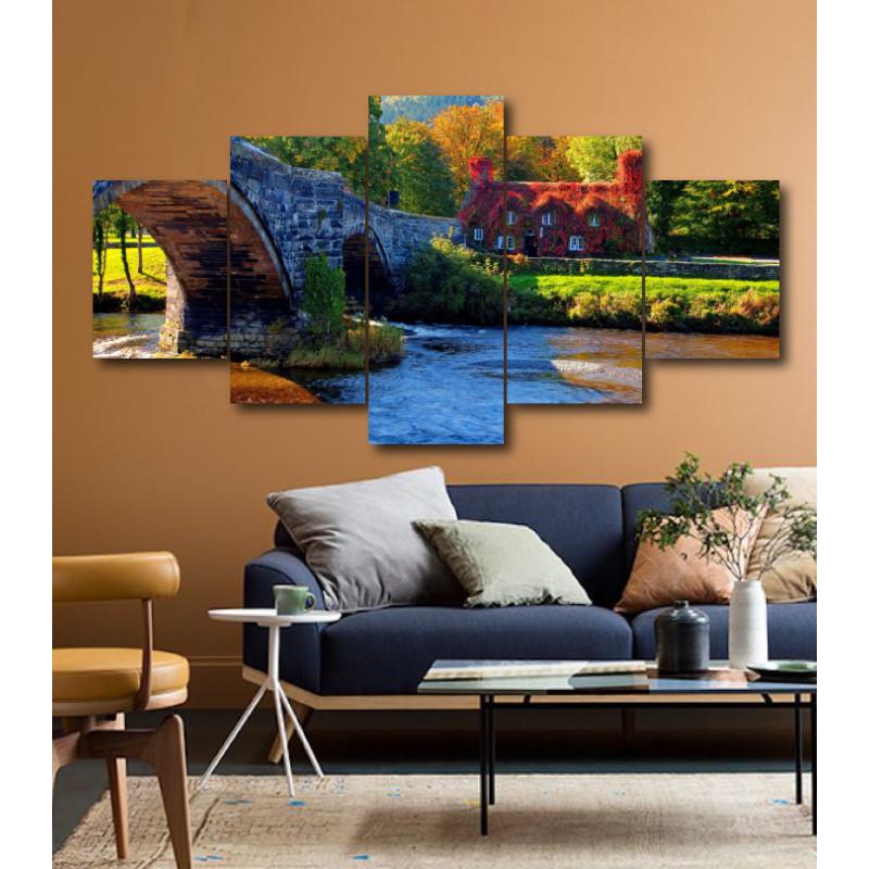 Wall Frames 5 Pieces Set Canvas - Digitally Printed Wall Canvas  post-201