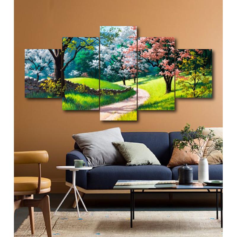 Wall Frames 5 Pieces Set Canvas - Digitally Printed Wall Canvas  post-202