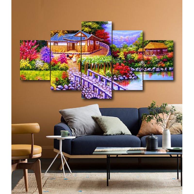 Wall Frames 5 Pieces Set Canvas - Digitally Printed Wall Canvas  post-203