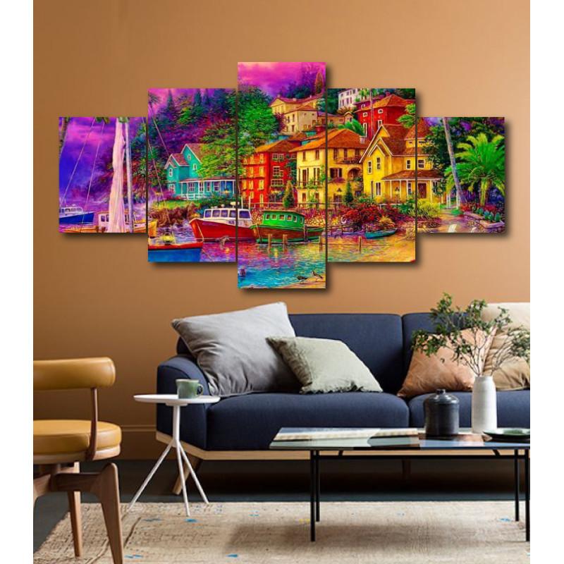 Wall Frames 5 Pieces Set Canvas - Digitally Printed Wall Canvas  post-204