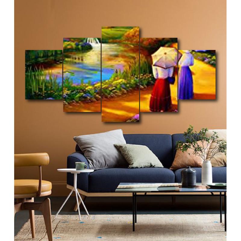 Wall Frames 5 Pieces Set Canvas - Digitally Printed Wall Canvas  post-205