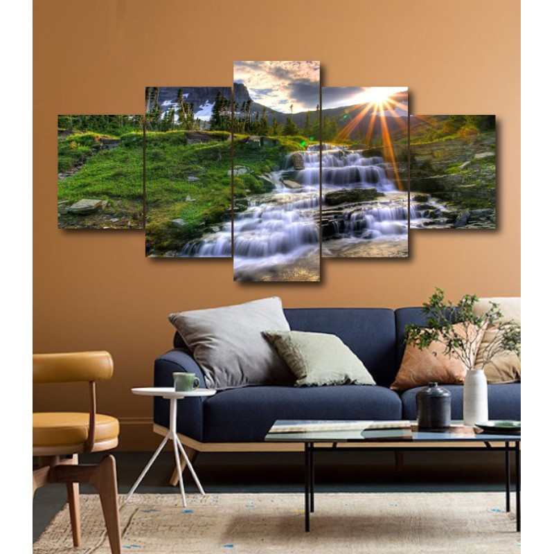 Wall Frames 5 Pieces Set Canvas - Digitally Printed Wall Canvas  post-206