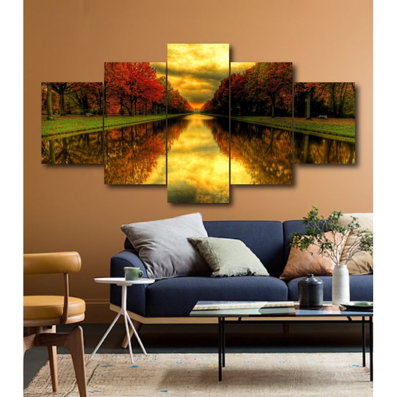 Wall Frames 5 Pieces Set Canvas - Digitally Printed Wall Canvas  post-208