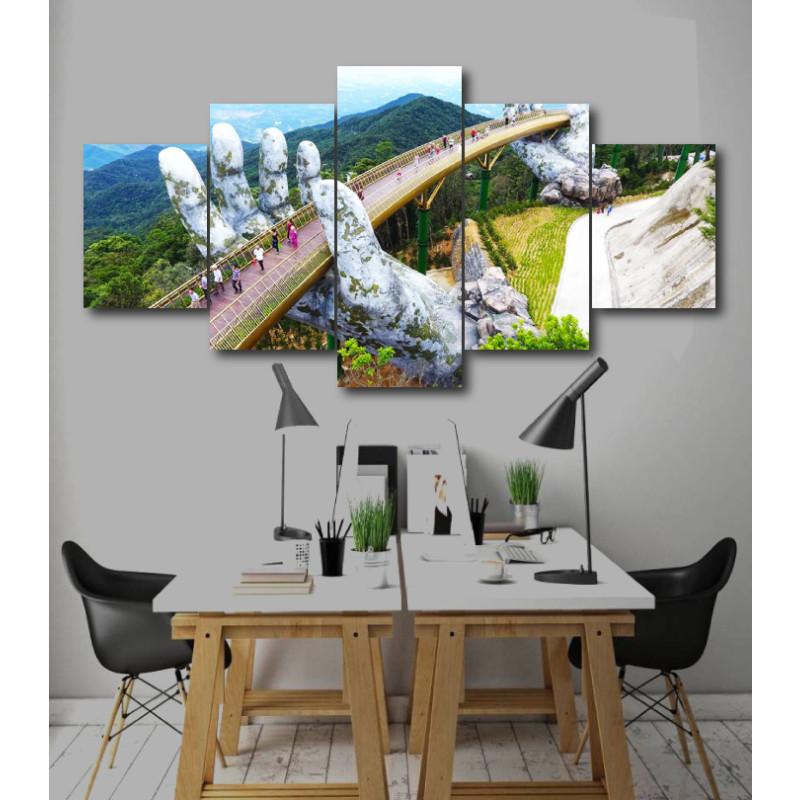 Wall Frames 5 Pieces Set Canvas - Digitally Printed Wall Canvas  post-209