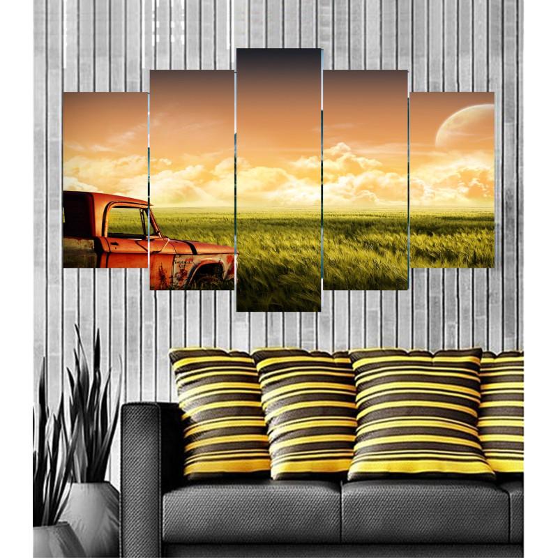 Wall Frames 5 Pieces Set Canvas - Digitally Printed Wall Canvas  post-22