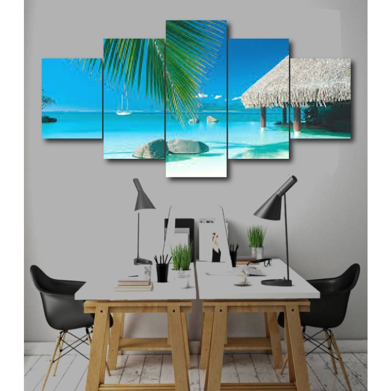 Wall Frames 5 Pieces Set Canvas - Digitally Printed Wall Canvas  post-230