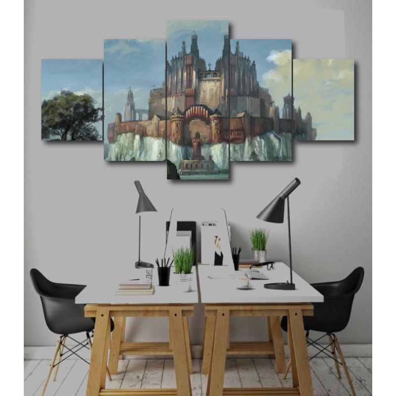 Wall Frames 5 Pieces Set Canvas - Digitally Printed Wall Canvas  post-232