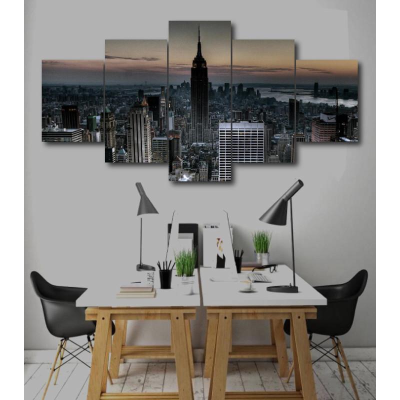 Wall Frames 5 Pieces Set Canvas - Digitally Printed Wall Canvas  post-236