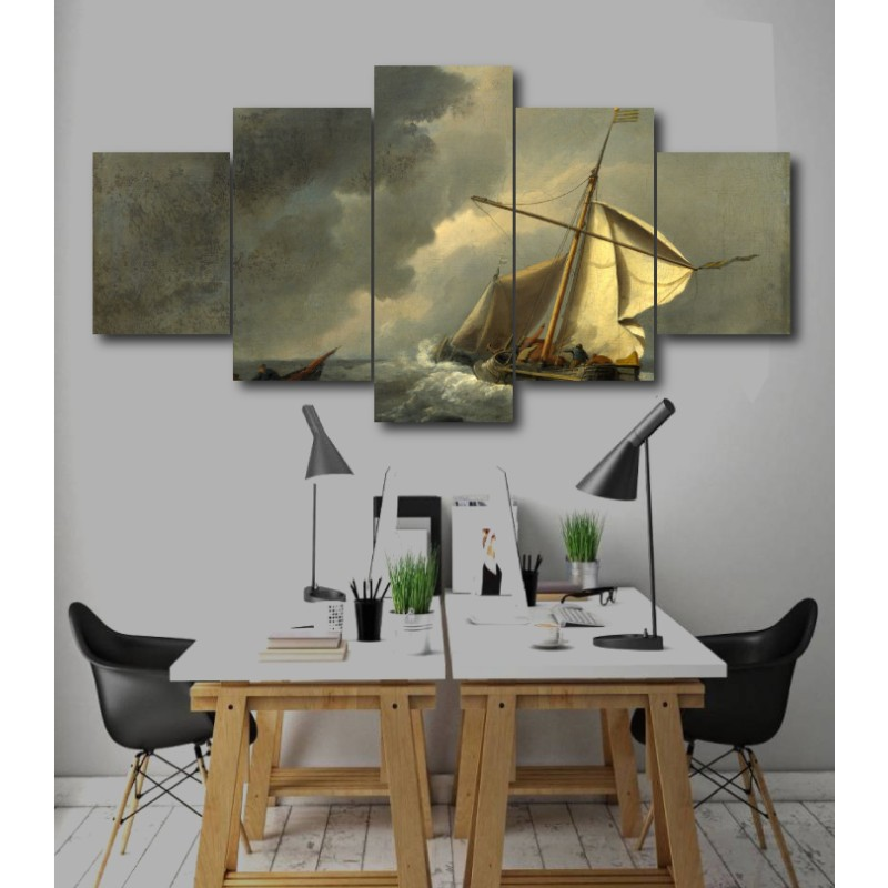 Wall Frames 5 Pieces Set Canvas - Digitally Printed Wall Canvas  post-239