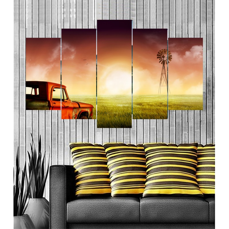 Wall Frames 5 Pieces Set Canvas - Digitally Printed Wall Canvas  post-24