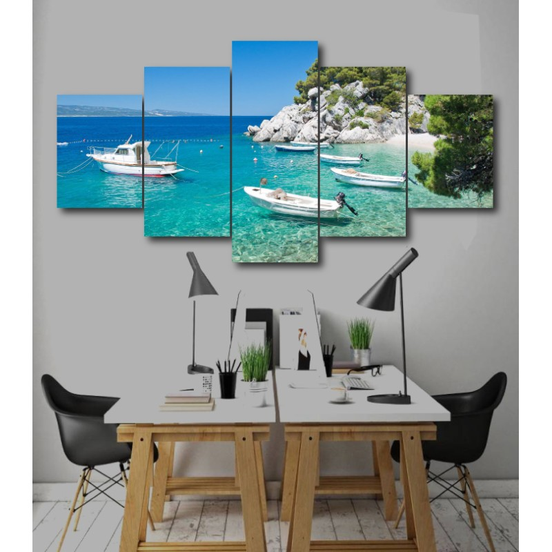 Wall Frames 5 Pieces Set Canvas - Digitally Printed Wall Canvas  post-243