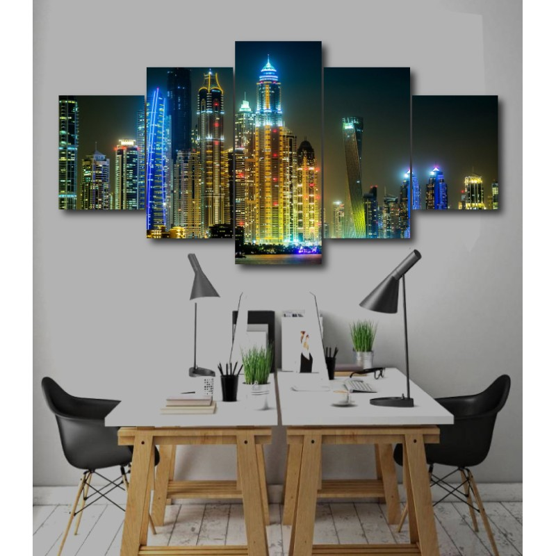 Wall Frames 5 Pieces Set Canvas - Digitally Printed Wall Canvas  post-244