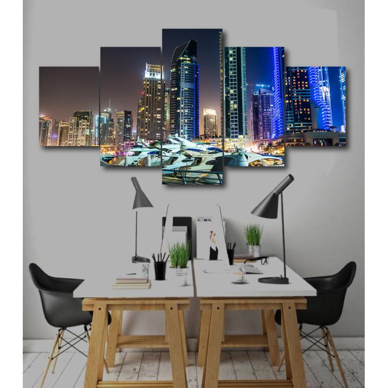 Wall Frames 5 Pieces Set Canvas - Digitally Printed Wall Canvas  post-245