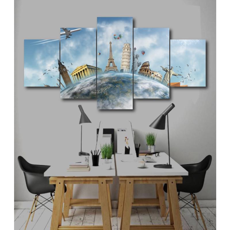 Wall Frames 5 Pieces Set Canvas - Digitally Printed Wall Canvas  post-247