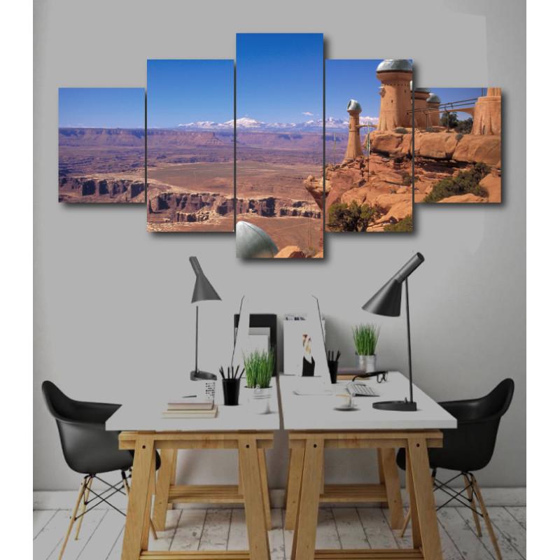 Wall Frames 5 Pieces Set Canvas - Digitally Printed Wall Canvas  post-249