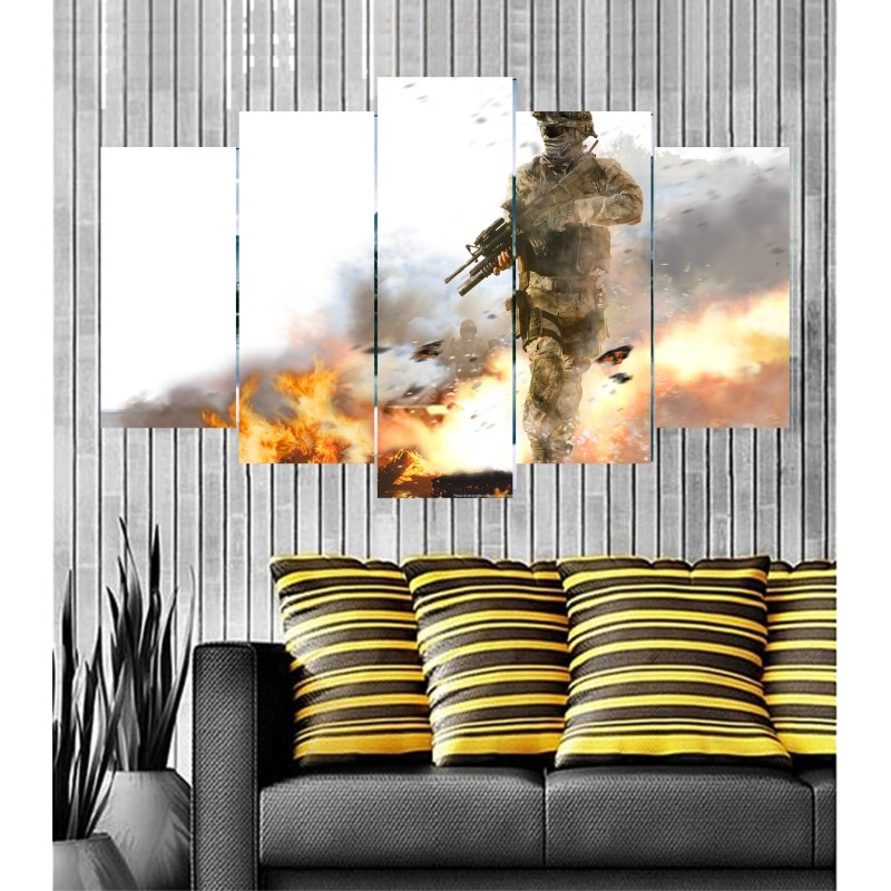 Wall Frames 5 Pieces Set Canvas - Digitally Printed Wall Canvas  post-25