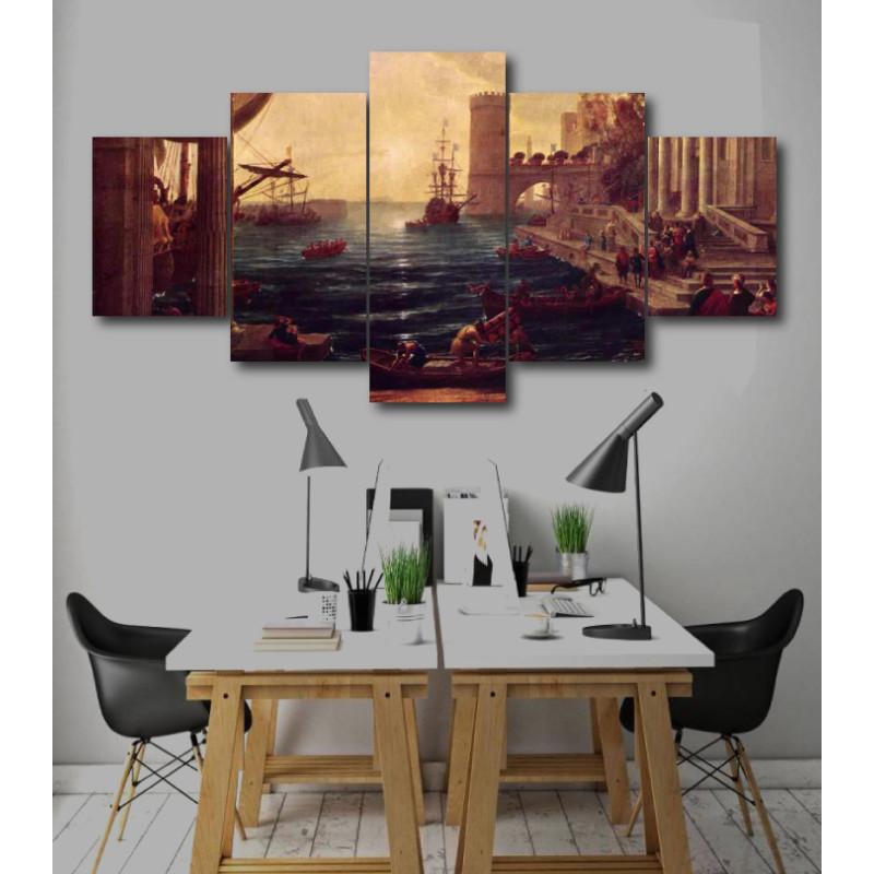 Wall Frames 5 Pieces Set Canvas - Digitally Printed Wall Canvas  post-251