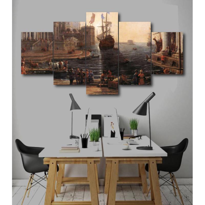 Wall Frames 5 Pieces Set Canvas - Digitally Printed Wall Canvas  post-252