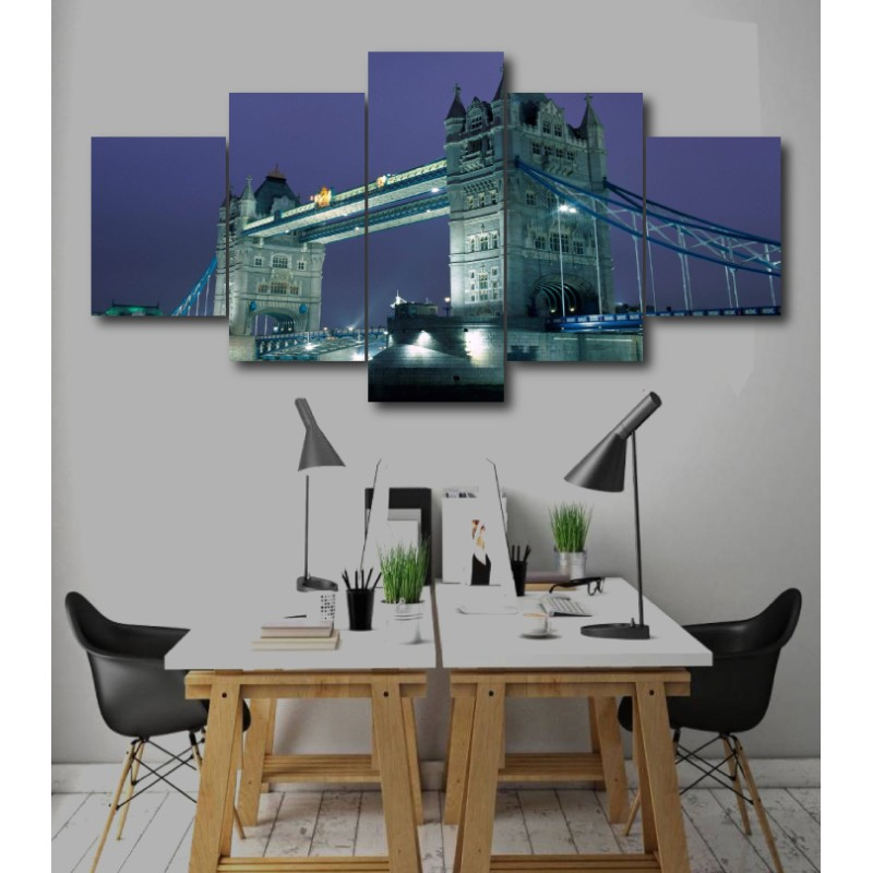 Wall Frames 5 Pieces Set Canvas - Digitally Printed Wall Canvas  post-256