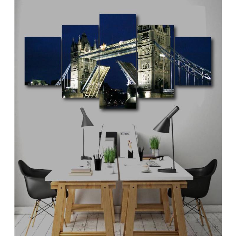 Wall Frames 5 Pieces Set Canvas - Digitally Printed Wall Canvas  post-257