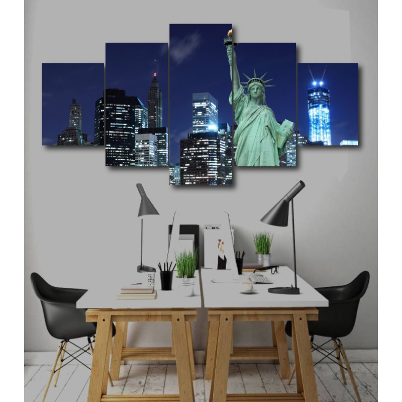 Wall Frames 5 Pieces Set Canvas - Digitally Printed Wall Canvas  post-258