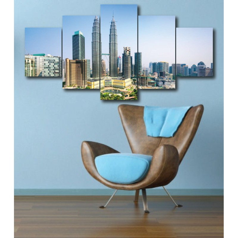 Wall Frames 5 Pieces Set Canvas - Digitally Printed Wall Canvas  post-260