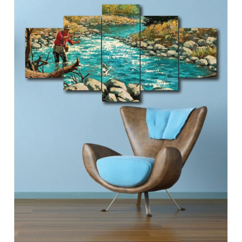 Wall Frames 5 Pieces Set Canvas - Digitally Printed Wall Canvas  post-263