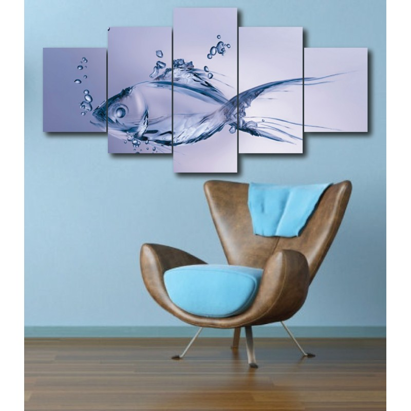 Wall Frames 5 Pieces Set Canvas - Digitally Printed Wall Canvas  post-268