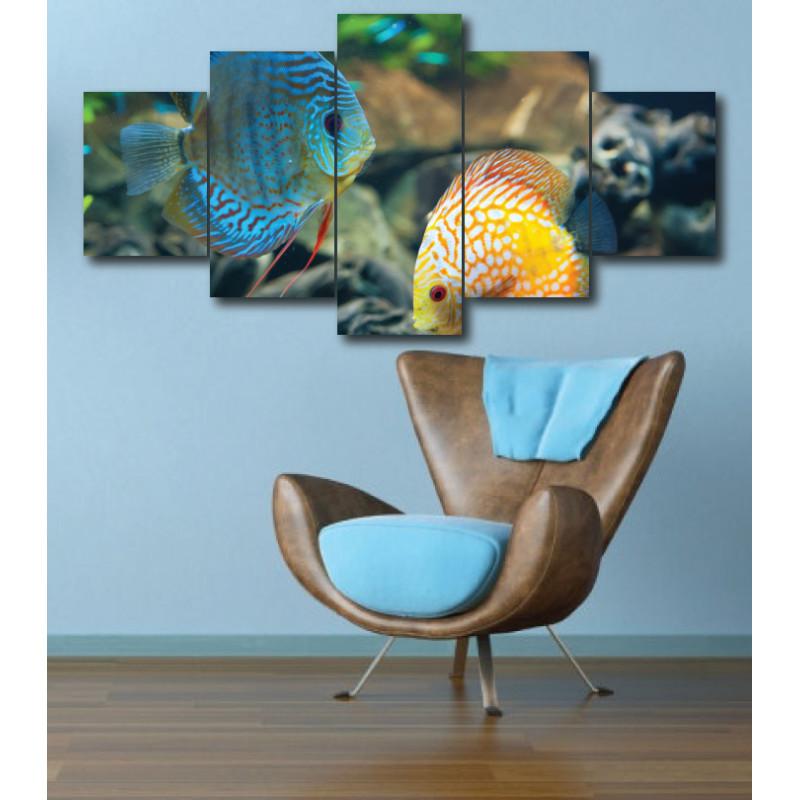 Wall Frames 5 Pieces Set Canvas - Digitally Printed Wall Canvas  post-274