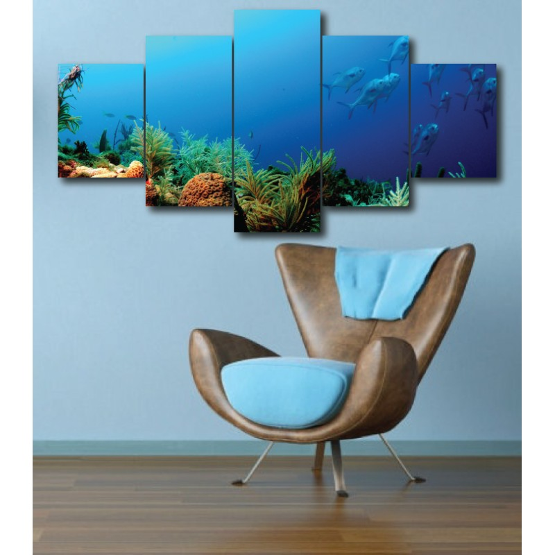 Wall Frames 5 Pieces Set Canvas - Digitally Printed Wall Canvas  post-275