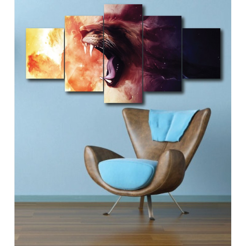 Wall Frames 5 Pieces Set Canvas - Digitally Printed Wall Canvas  post-289