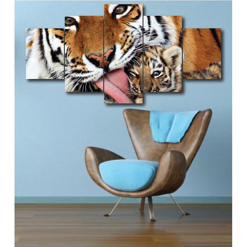 Wall Frames 5 Pieces Set Canvas - Digitally Printed Wall Canvas  post-293