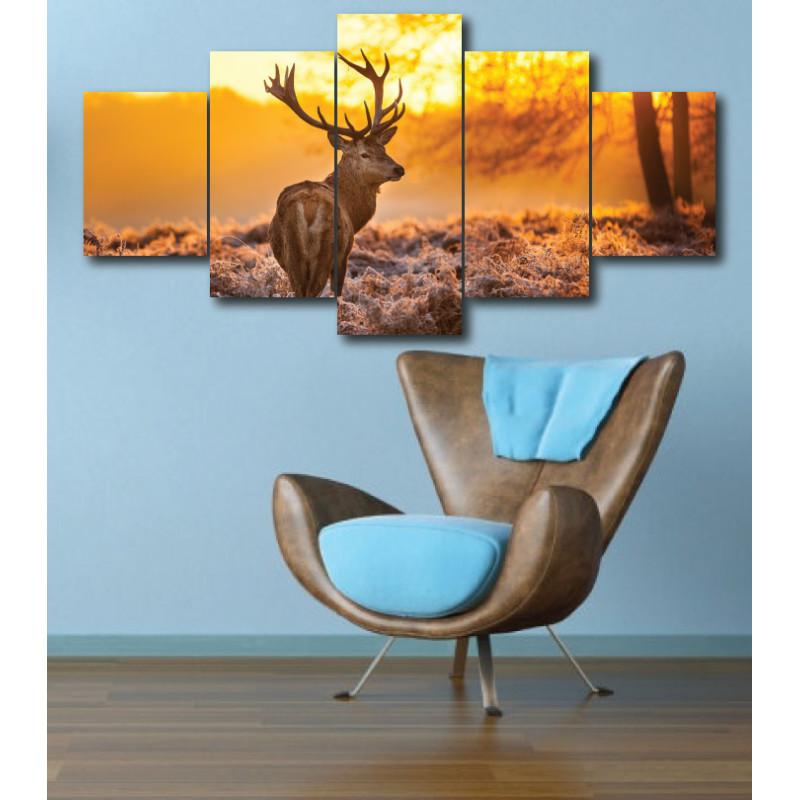 Wall Frames 5 Pieces Set Canvas - Digitally Printed Wall Canvas  post-294