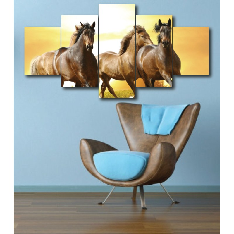 Wall Frames 5 Pieces Set Canvas - Digitally Printed Wall Canvas  post-295