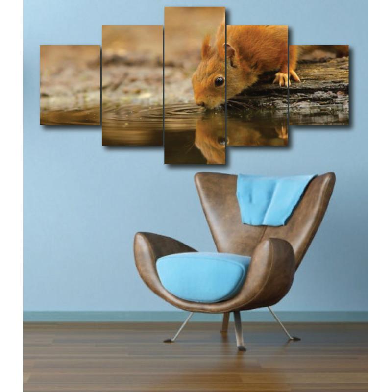 Wall Frames 5 Pieces Set Canvas - Digitally Printed Wall Canvas  post-296