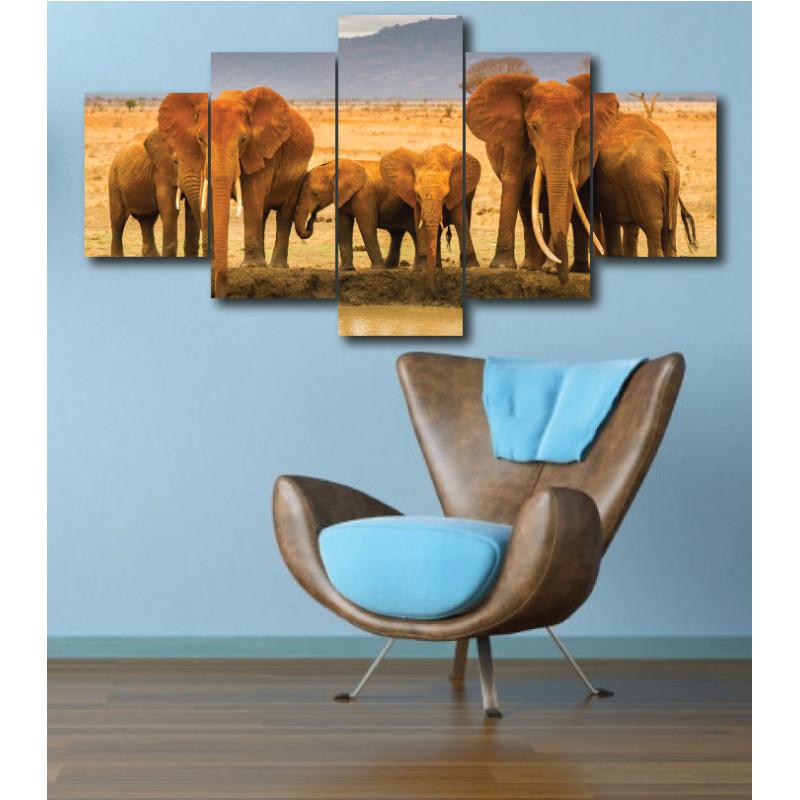 Wall Frames 5 Pieces Set Canvas - Digitally Printed Wall Canvas  post-300