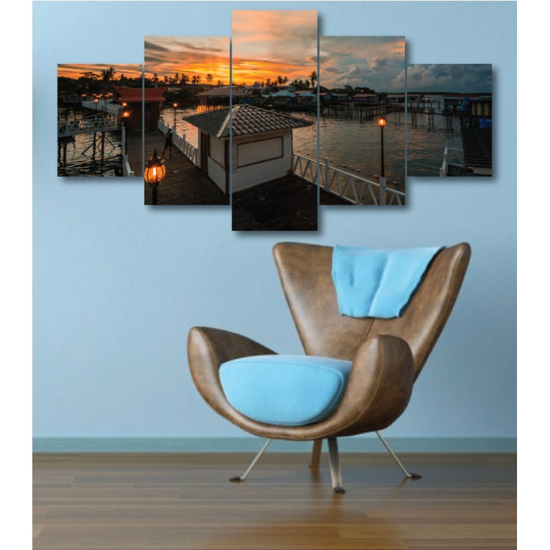 Wall Frames 5 Pieces Set Canvas - Digitally Printed Wall Canvas  post-303