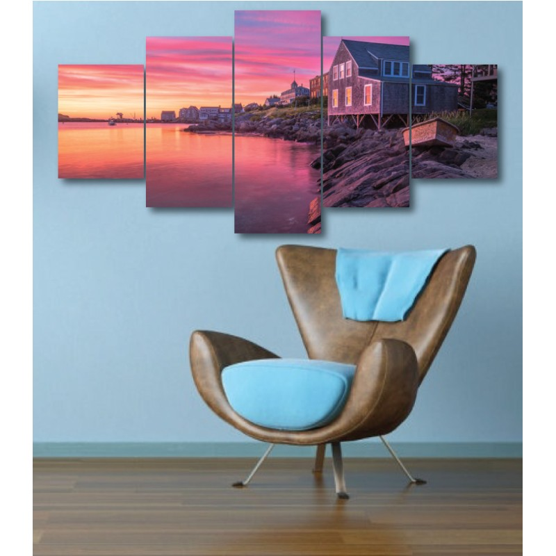 Wall Frames 5 Pieces Set Canvas - Digitally Printed Wall Canvas  post-304