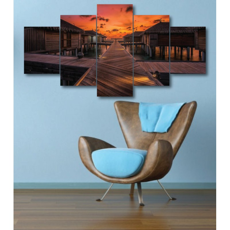 Wall Frames 5 Pieces Set Canvas - Digitally Printed Wall Canvas  post-308