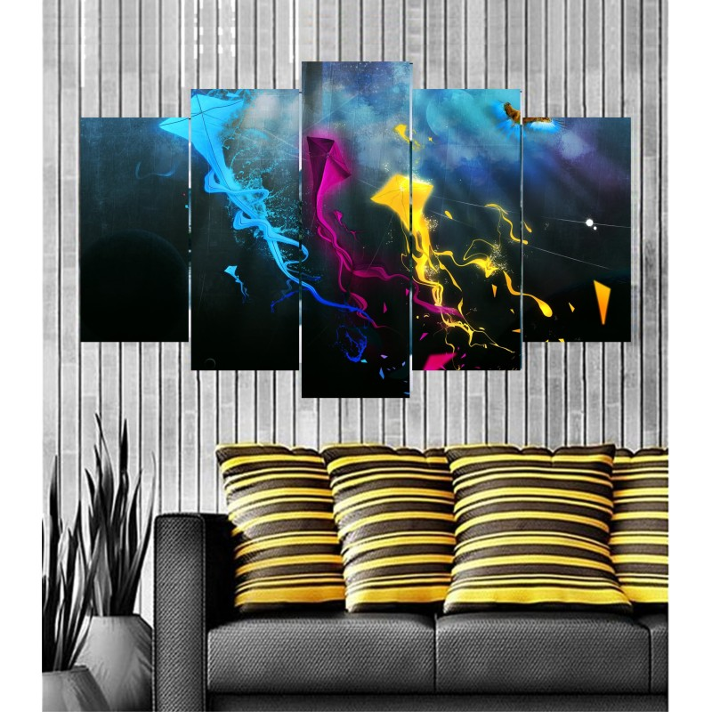 Wall Frames 5 Pieces Set Canvas - Digitally Printed Wall Canvas  post-31