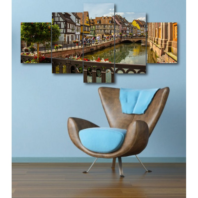 Wall Frames 5 Pieces Set Canvas - Digitally Printed Wall Canvas  post-312