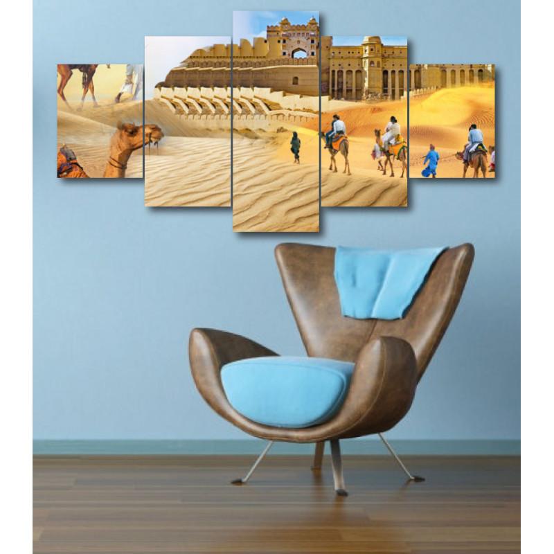 Wall Frames 5 Pieces Set Canvas - Digitally Printed Wall Canvas  post-325